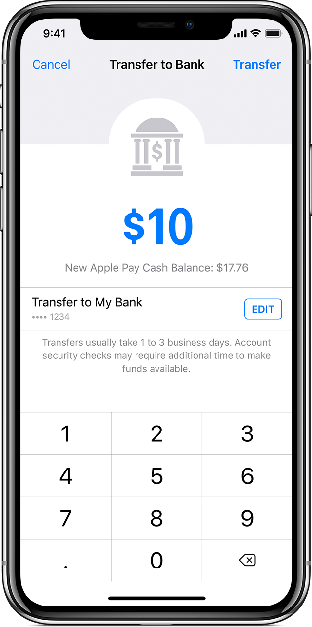 transfer money from apple pay cash to your bank account - soporte