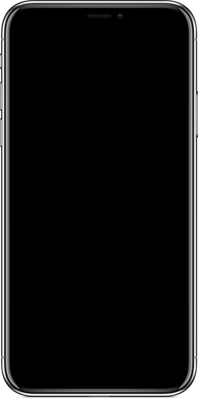 Blank iPhone screen