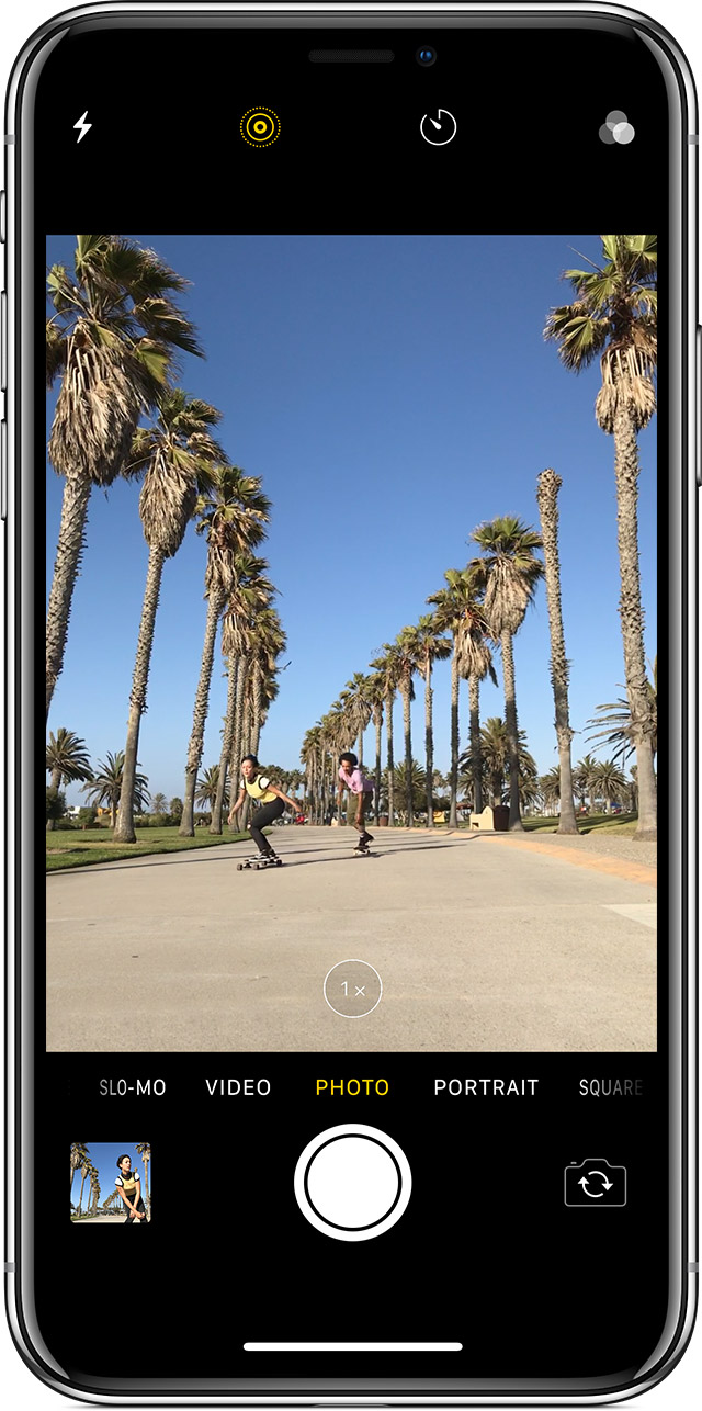 Taking a Live Photo on iPhone