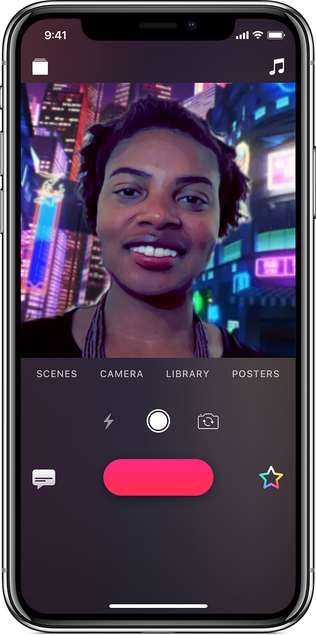 adding a Selfie Scene on iPhone X