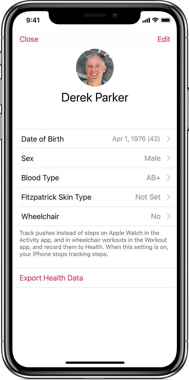 Derek Parker's personal information.