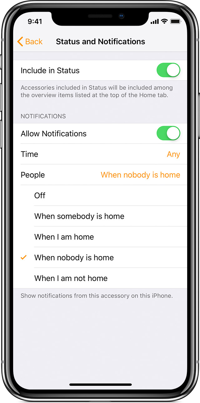 Get notifications for your HomeKit accessories - Apple Support