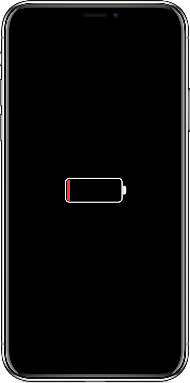 iphone spento batteria