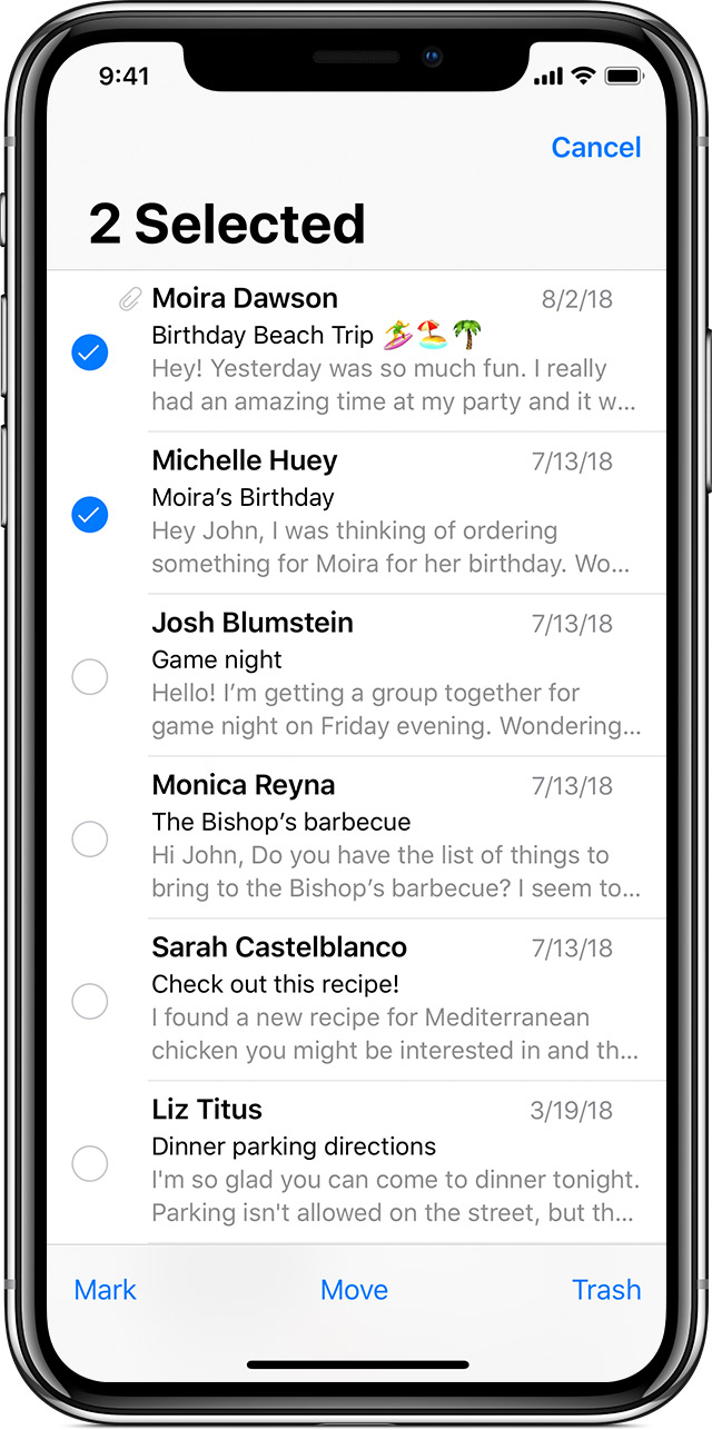 Use mailboxes to organize emails on your iPhone, iPad, and