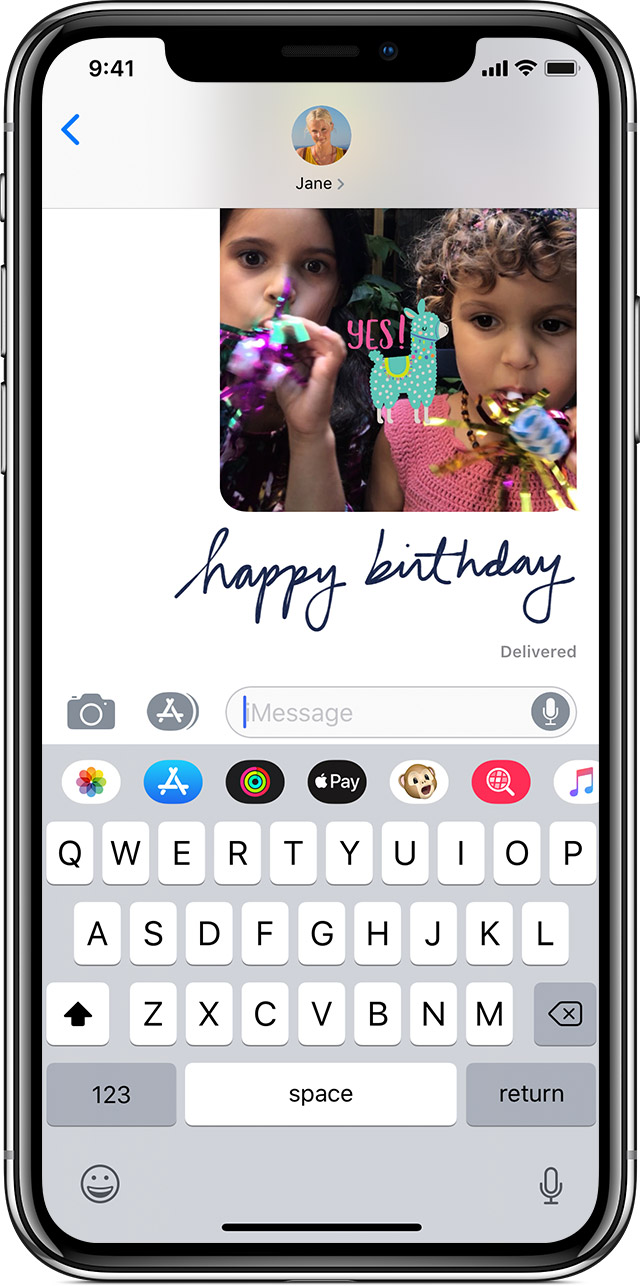 how to send cool happy birthday on iphone