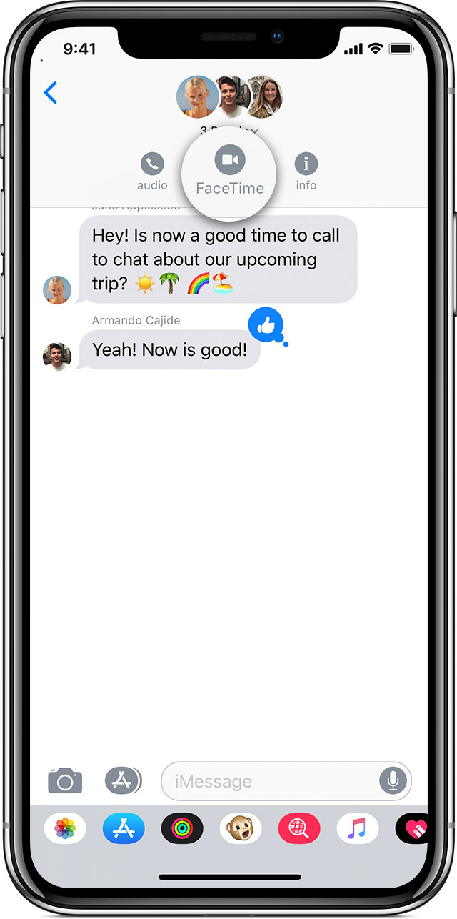 Use Group Facetime On Your Iphone Ipad And Ipod Touch Apple Support