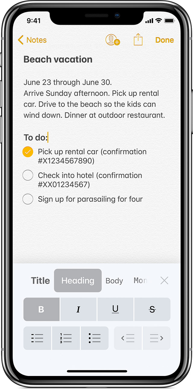 use notes on your iphone ipad and ipod touch apple support
