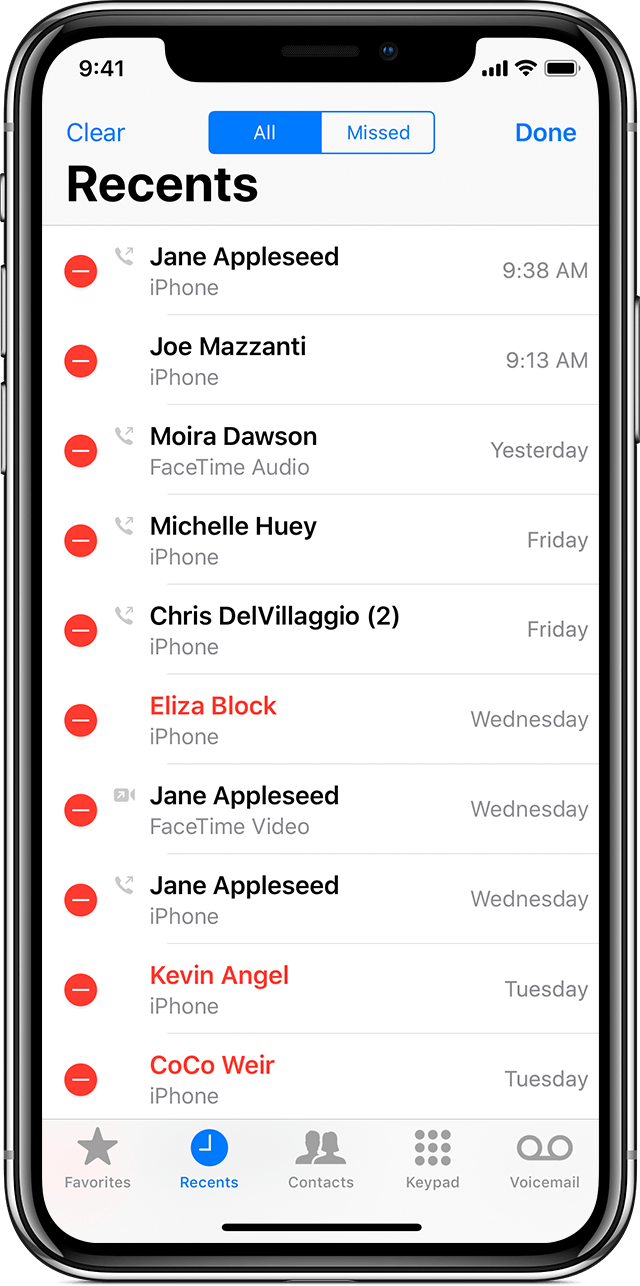 View and delete the call history on your iPhone - Apple Support