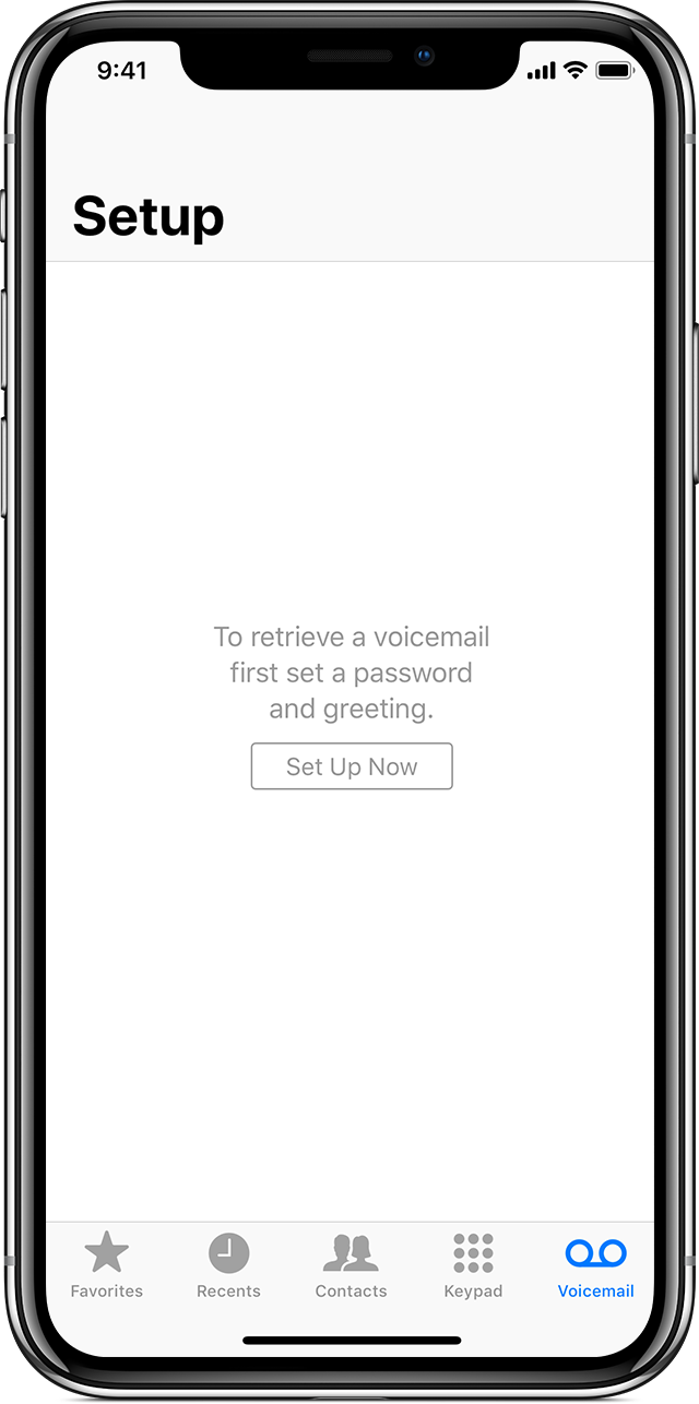 Set up visual voicemail on your iphone apple support set up visual voicemail m4hsunfo