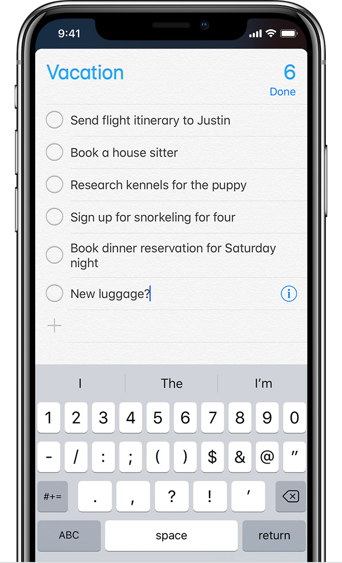 Use Reminders on your iPhone, iPad, or iPod touch - Apple