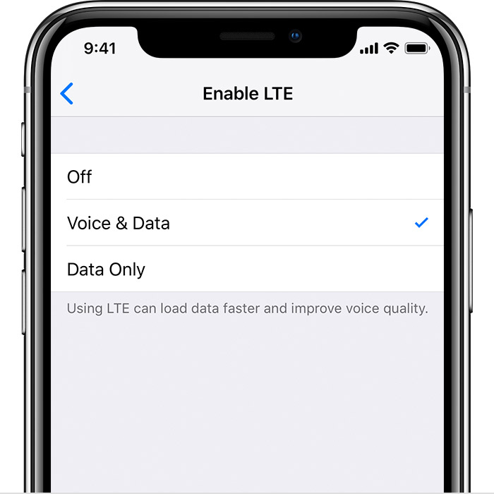 Make phone calls with Voice over LTE (VoLTE) - Apple Support