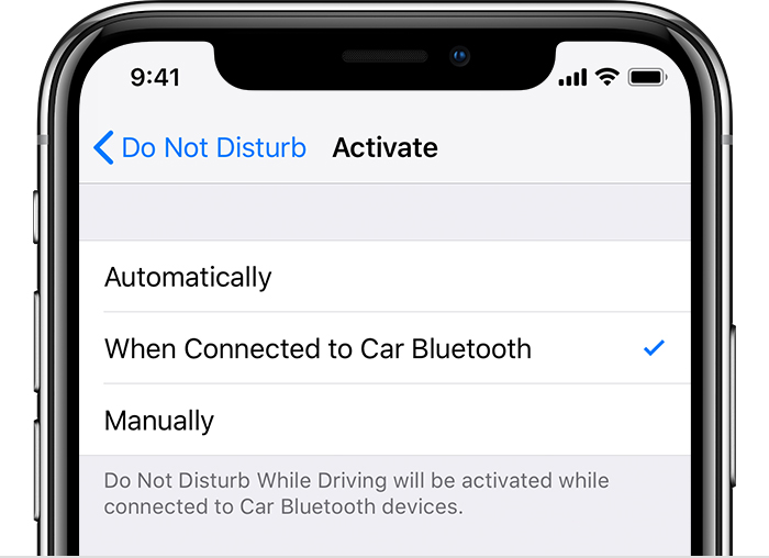 How to use Do Not Disturb While Driving - Apple Support