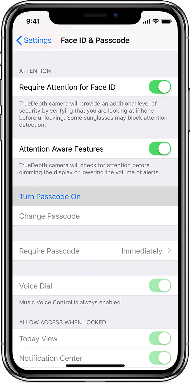 Use a passcode with your iPhone, iPad, or iPod touch - Apple