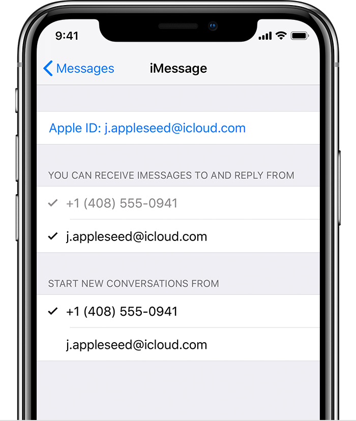phone number for apple iphone support add or remove your phone number in messages or facetime 19422