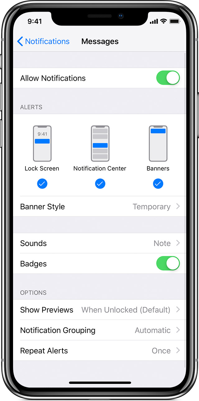 Use notifications on your iPhone, iPad, and iPod touch - Apple Support