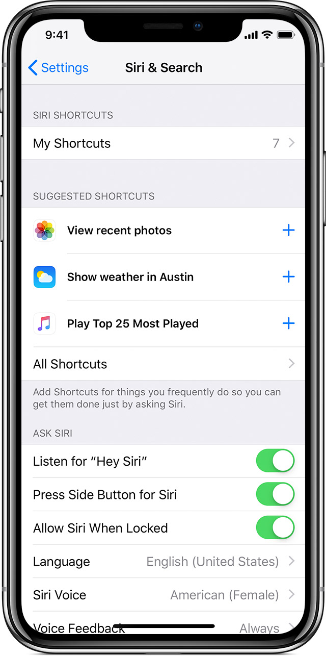 Use Siri Shortcuts - Apple Support
