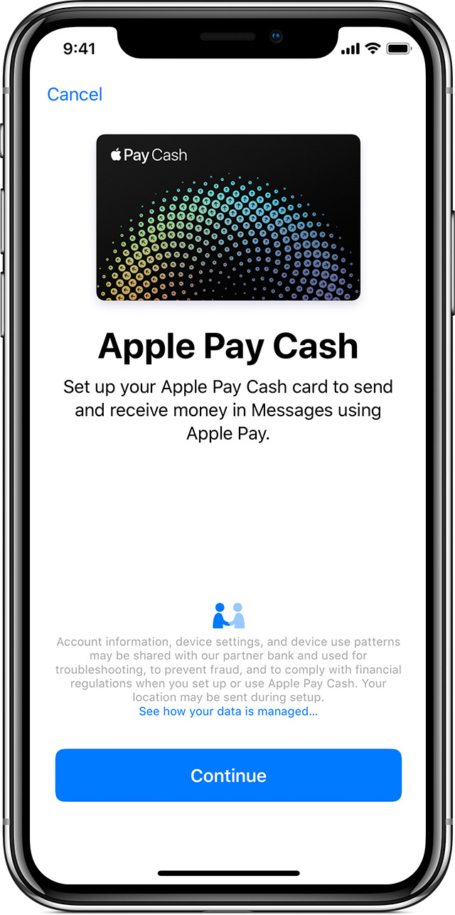 Apple Pay Cash screen