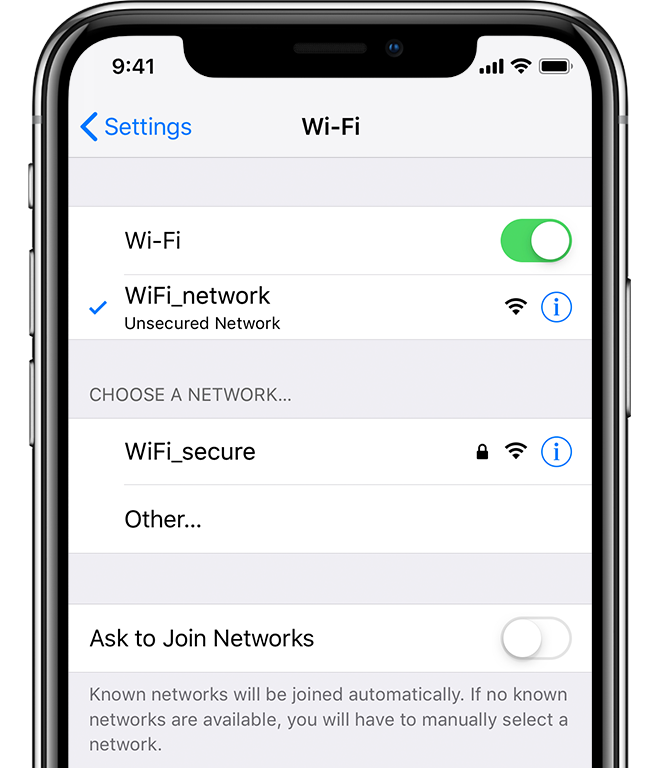 Wifi not turning on on iphone 6