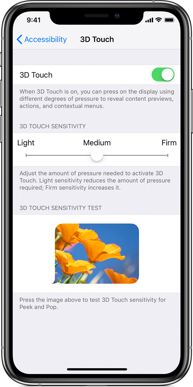 big sale cfdb0 7642e Change 3D Touch sensitivity on your iPhone