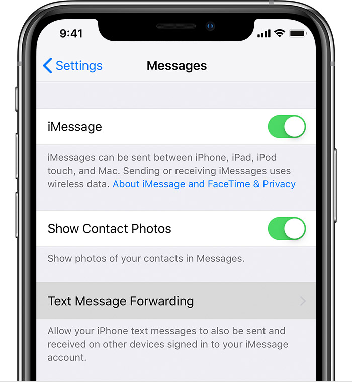 How to forward text messages on your iPhone - Apple Support