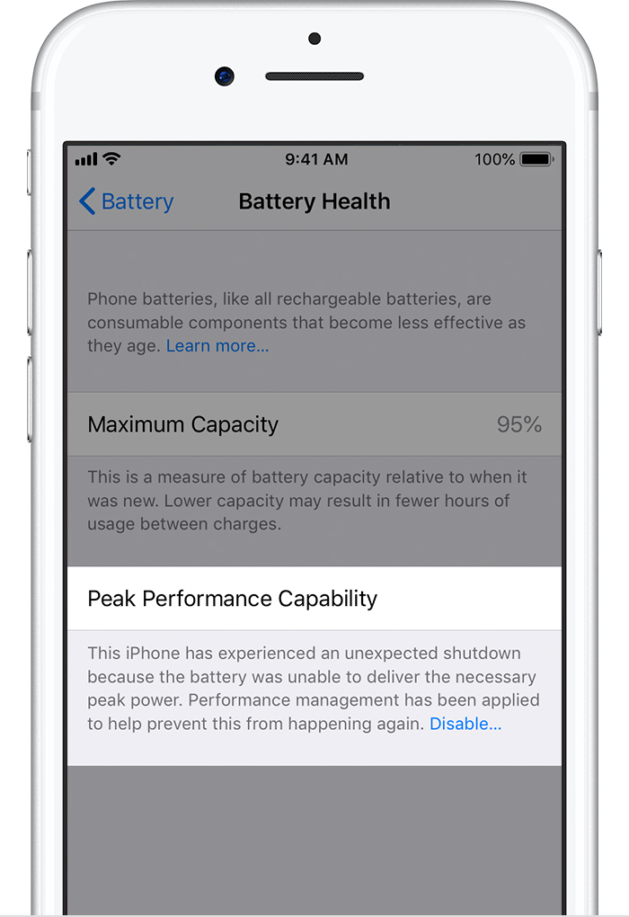 iPhone Battery and Performance - Apple Support