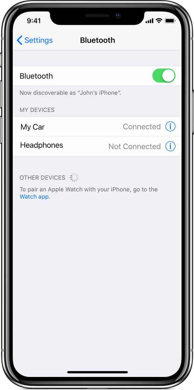 how to put iphone in discovery mode pair a third bluetooth accessory with your iphone 7753