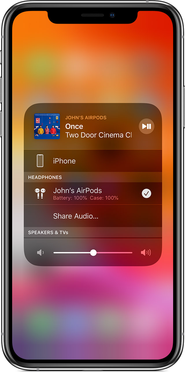 Share Audio With Airpods Or Beats Headphones Apple Support