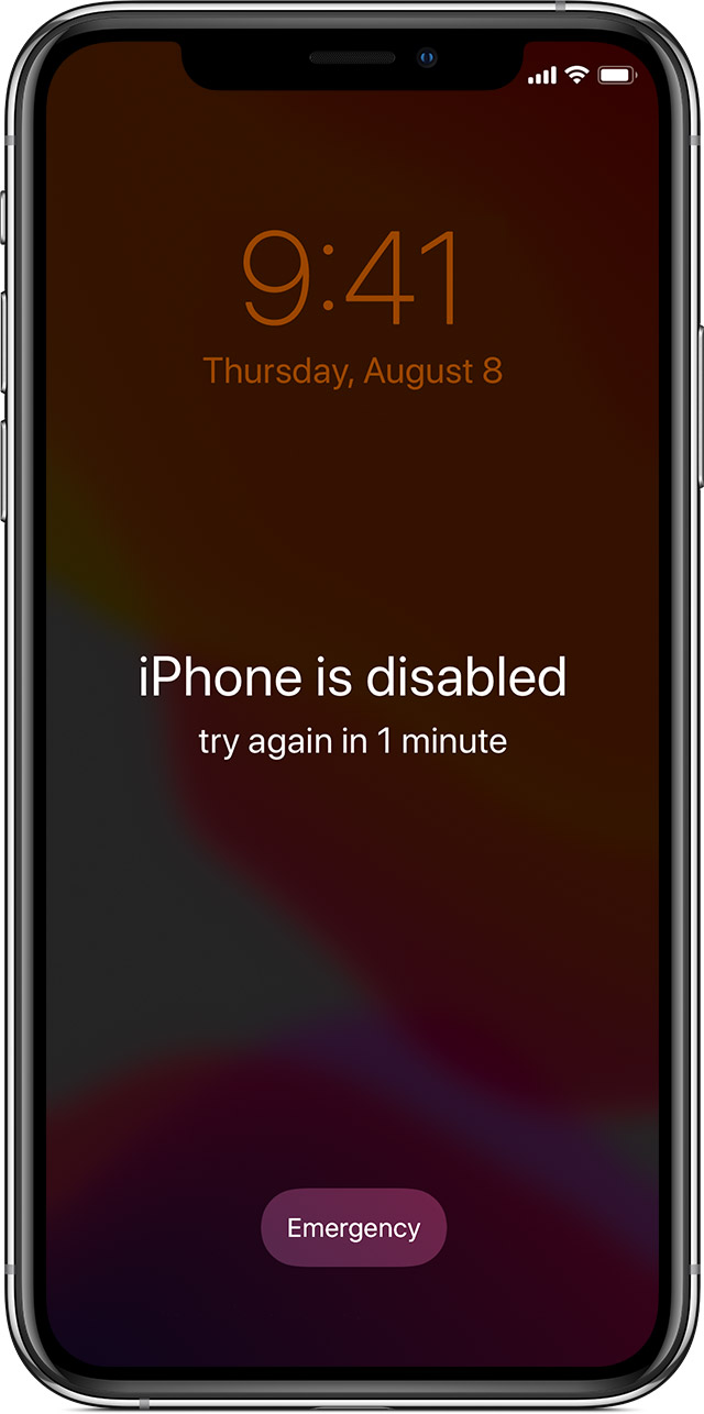 If You Forgot The Passcode On Your Iphone Or Your Iphone Is Disabled Apple Support