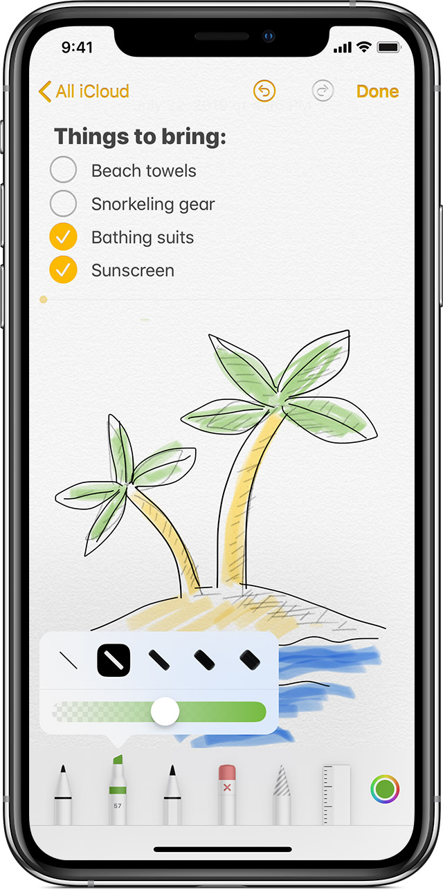 Draw With Notes On Your Iphone Ipad Or Ipod Touch Apple Support