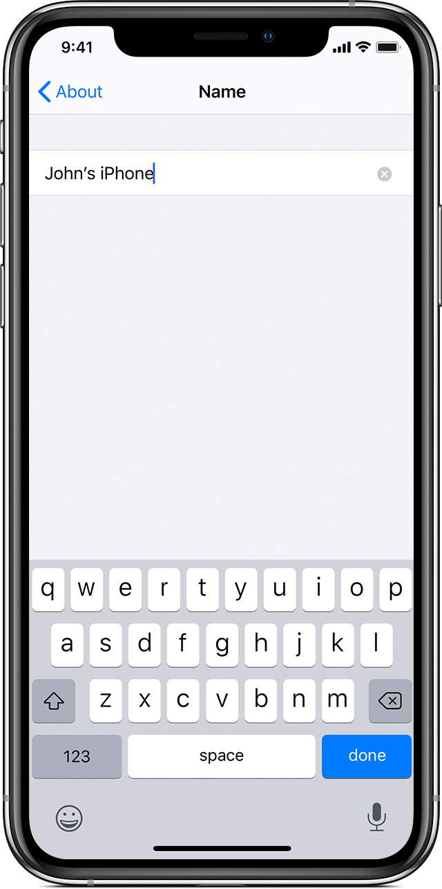 Change The Name Of Your Iphone Ipad