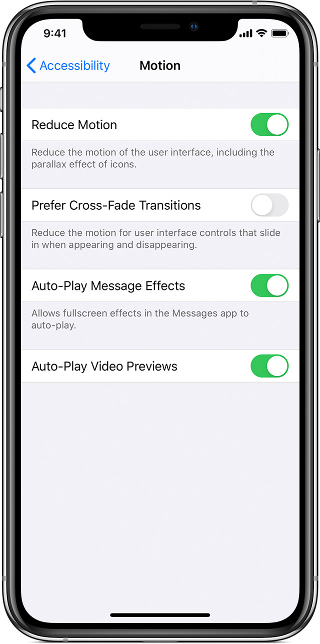Reduce Screen Motion On Your Iphone Ipad Or Ipod Touch