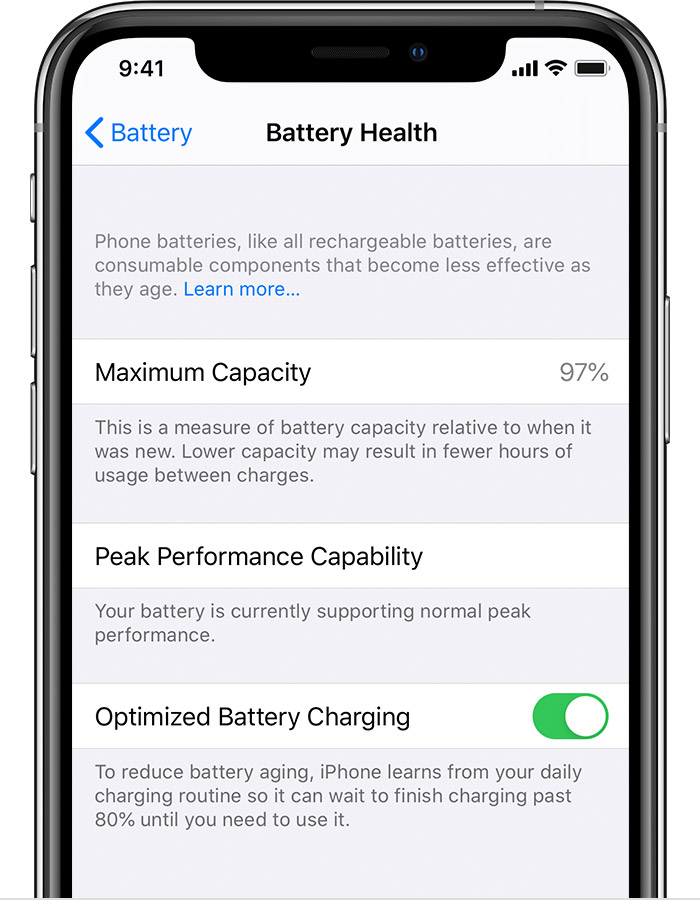 About Optimized Battery Charging On Your Iphone Apple Support