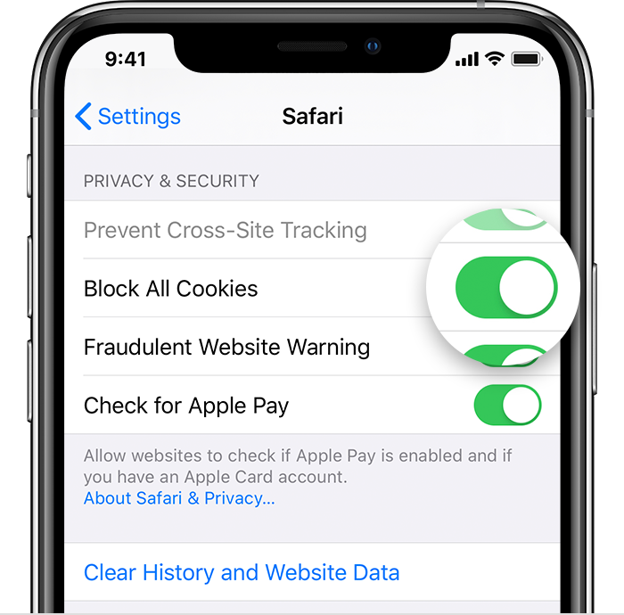 Clear The History And Cookies From Safari On Your Iphone Ipad Or Ipod Touch Apple Support