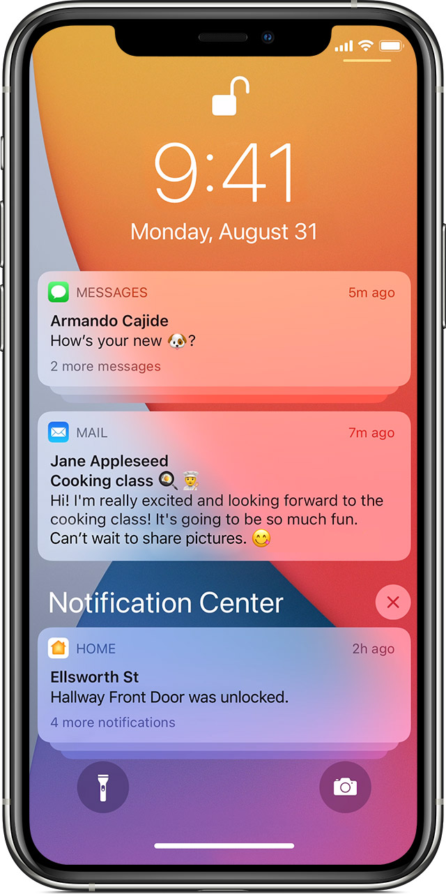 animation showing Control Center being opened on iPhone 11 Pro