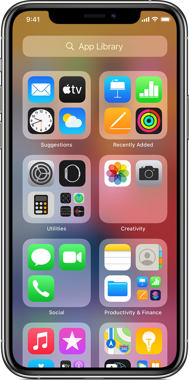 Organize The Home Screen And App Library On Your Iphone Apple Support
