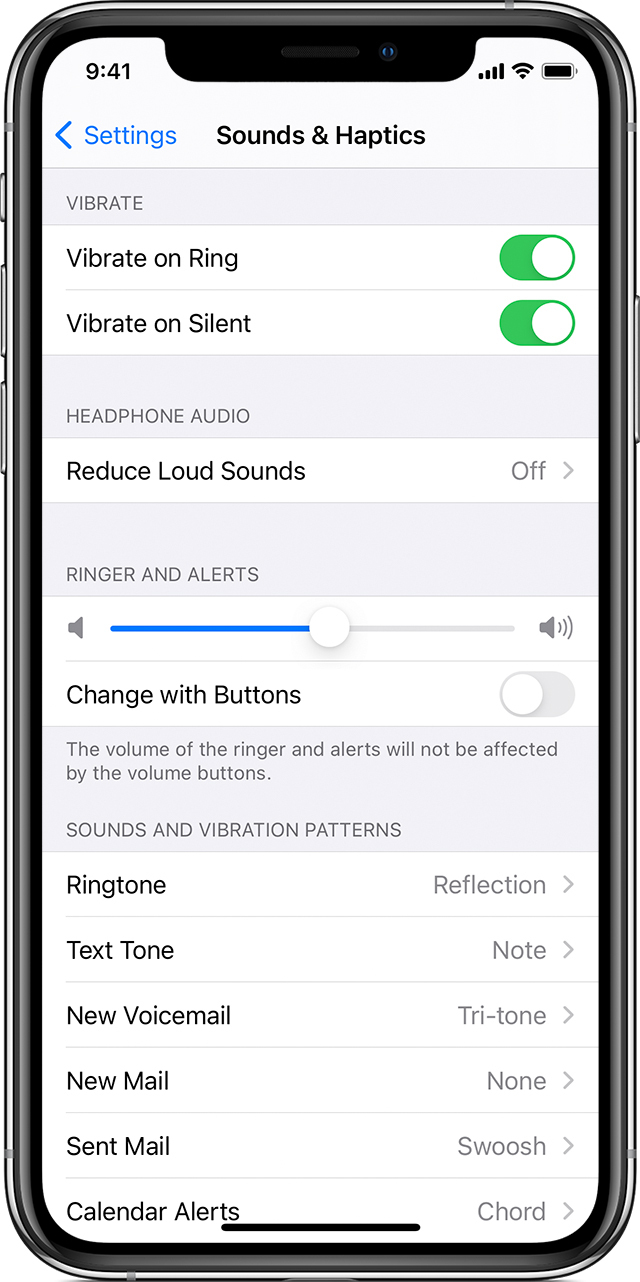 iPhone showing how to change ringtones
