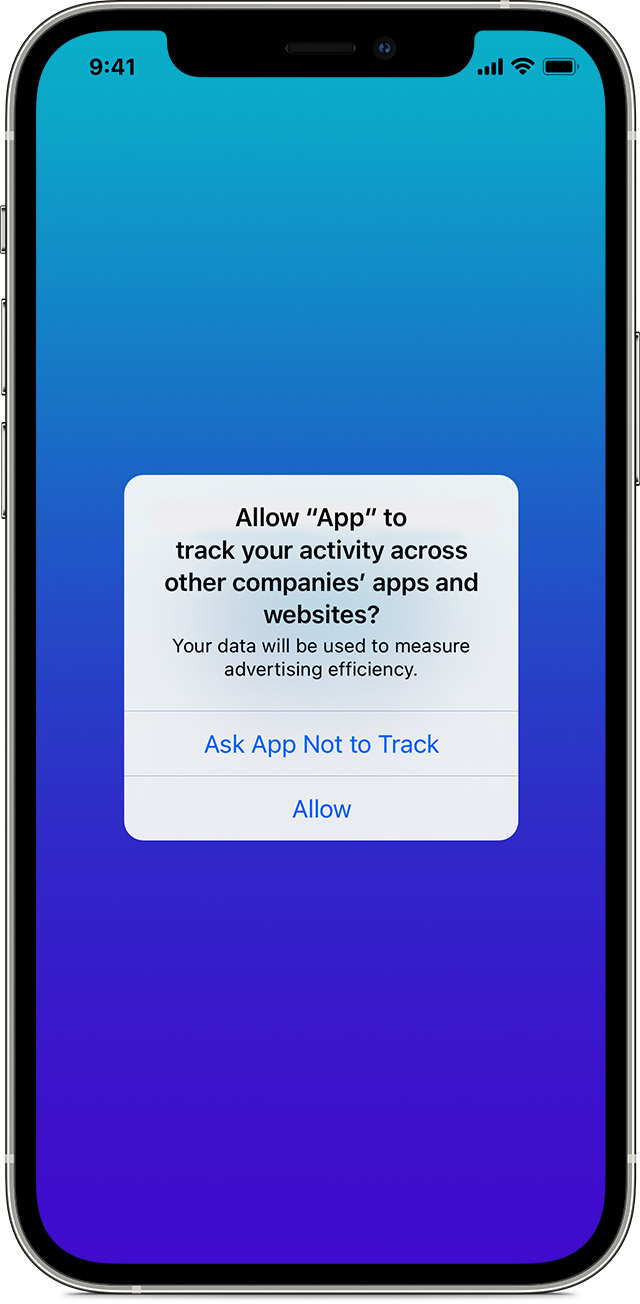 If an app asks to track your activity