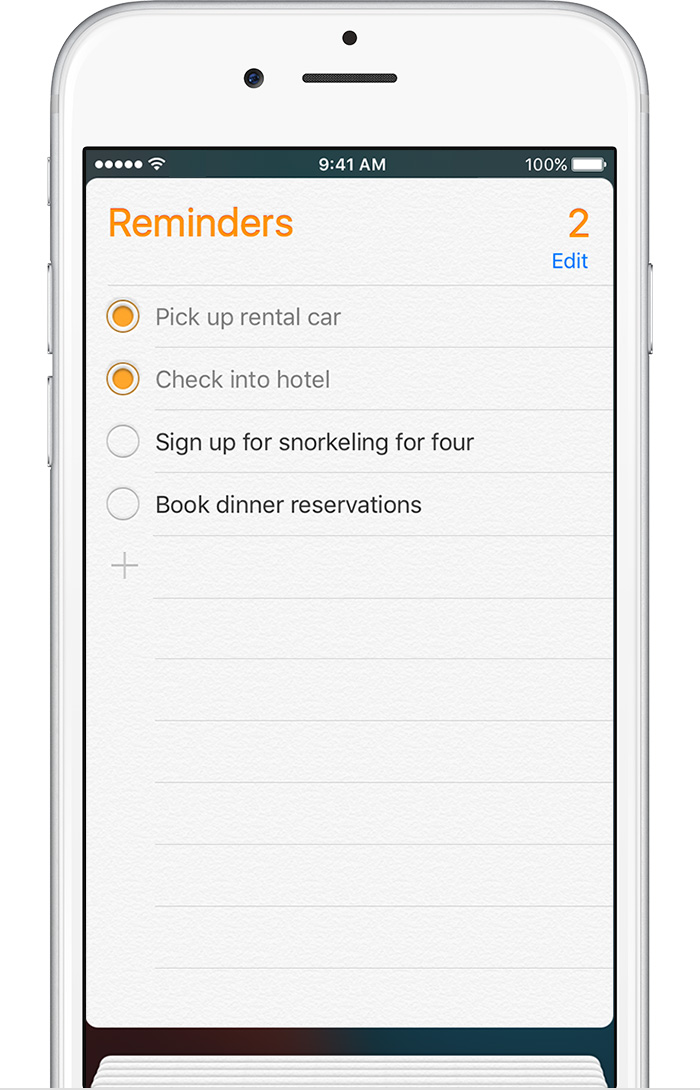 add reminder iphone use reminders on your iphone or ipod touch apple 8245