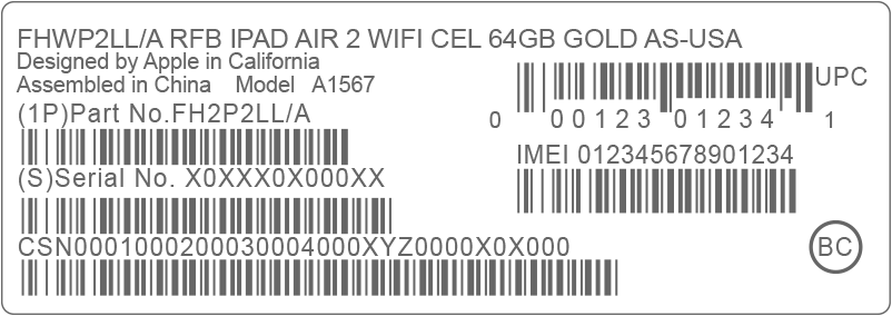 Find iPhone, iPad, or iPod serial number on the original packaging.