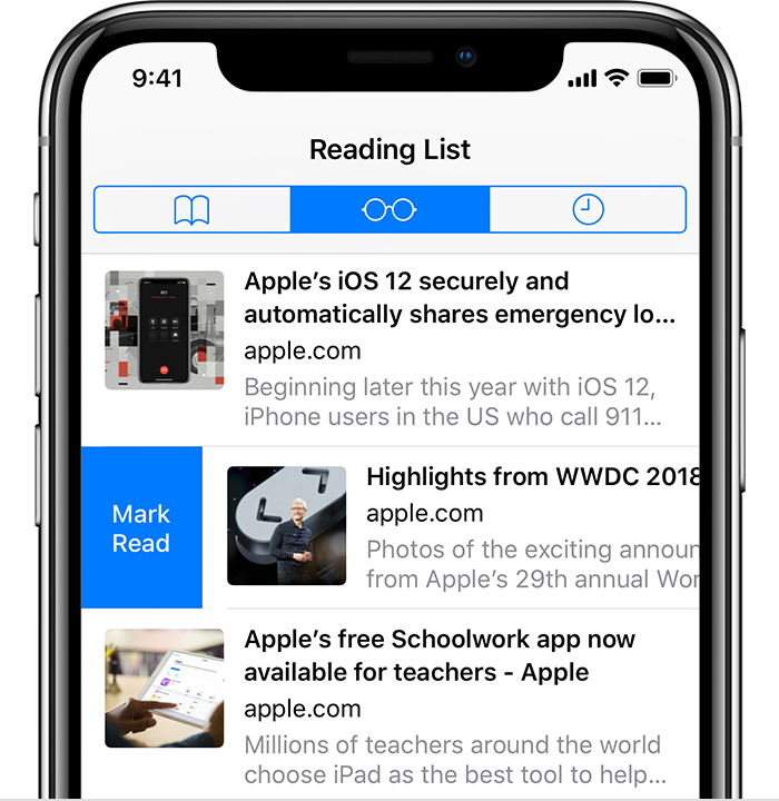 Add webpages to a Reading List - Apple Support