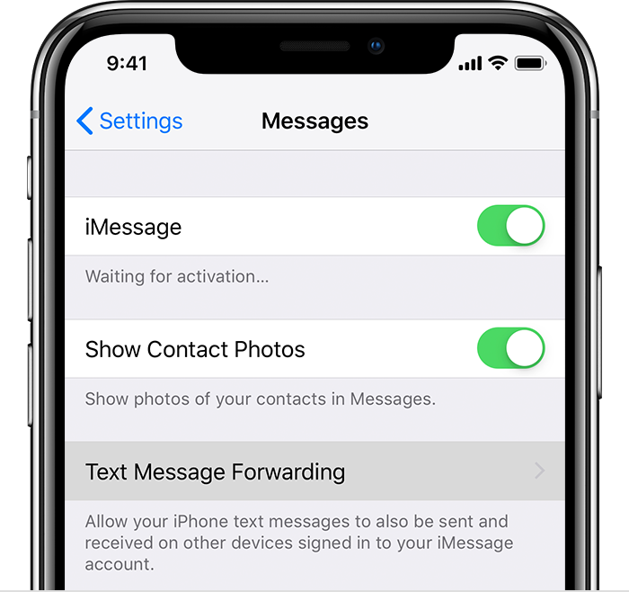 can you forward text messages to another iphone how to forward sms texts on your iphone apple support 8627