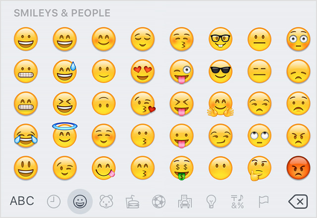 Use emoji (emoticons) on your iPhone, iPad, and iPod touch - Apple ...