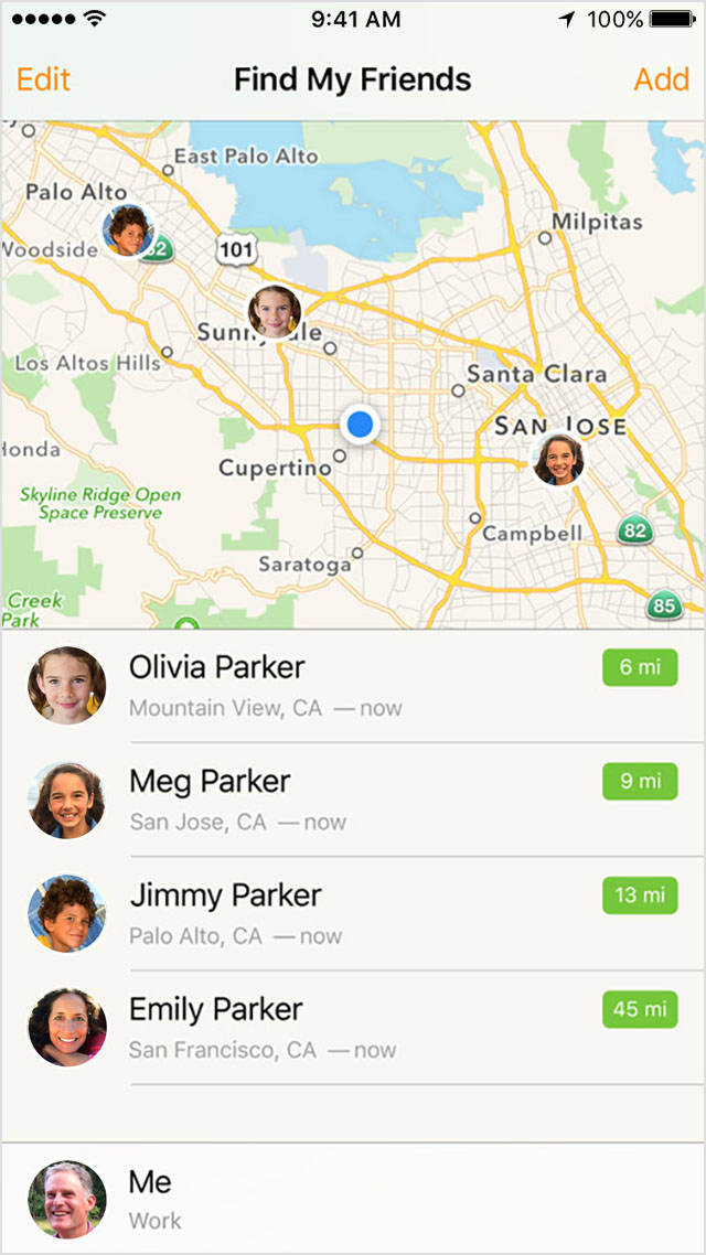 sharing location on iphone family and location apple support 16115