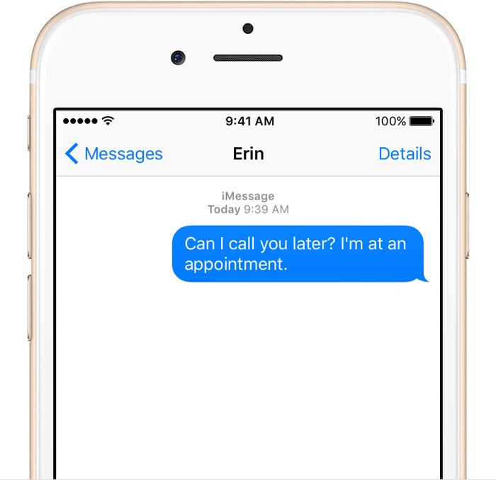 Как сделать свои смс для айфона