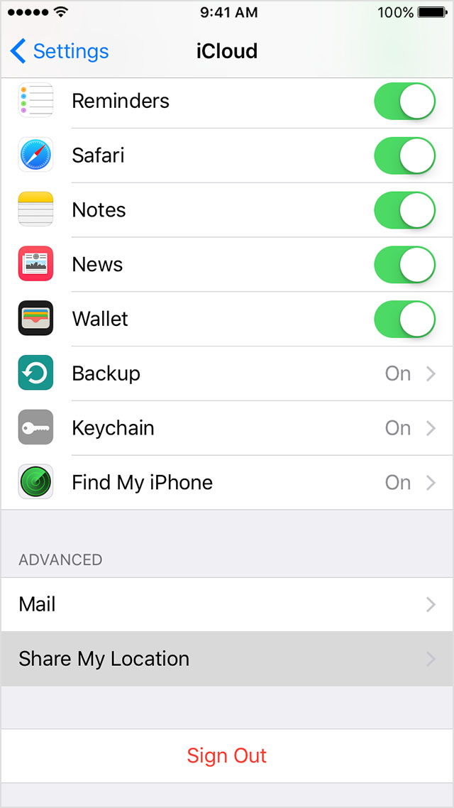 iphone location settings family and location apple support 7015