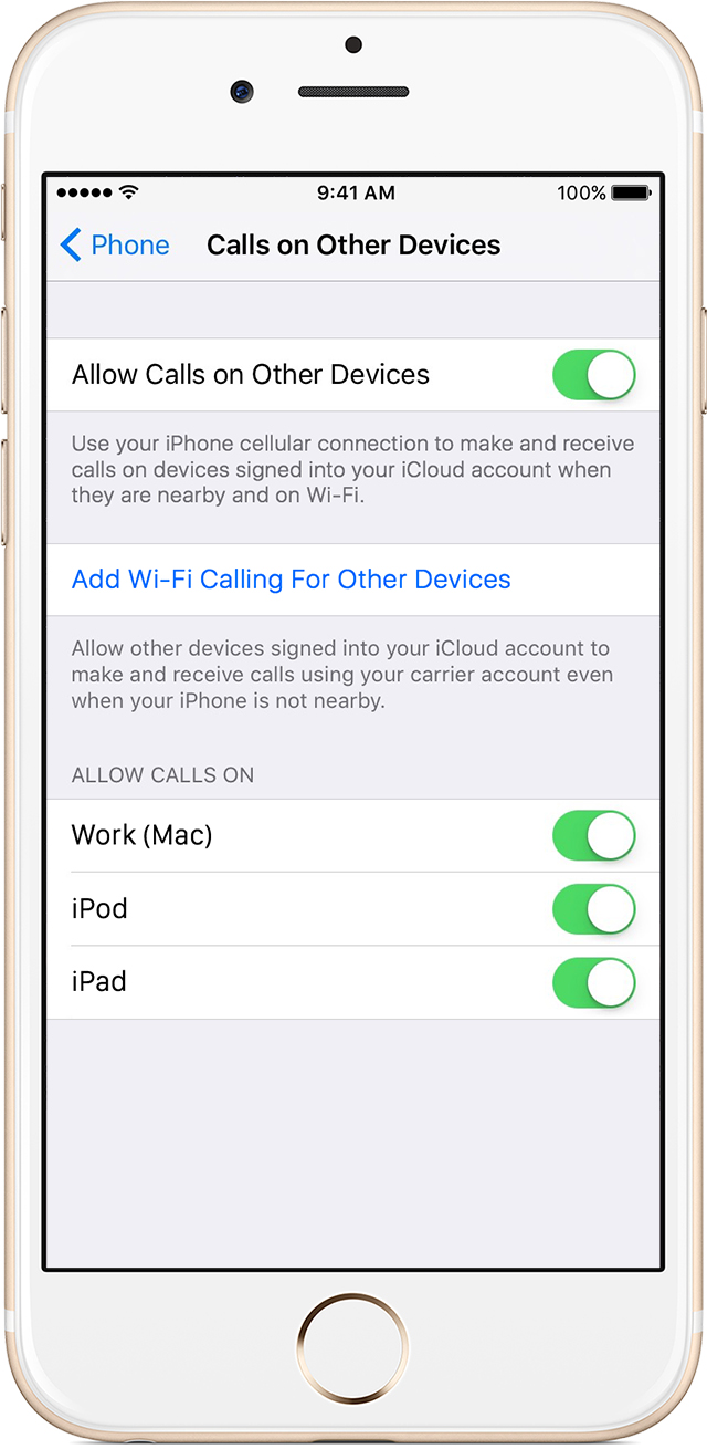 Wi-Fi Calling For Other Devices on iOS? : verizon