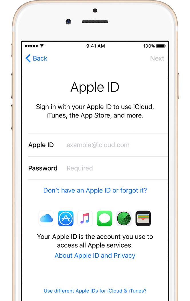 create free apple id iphone 6
