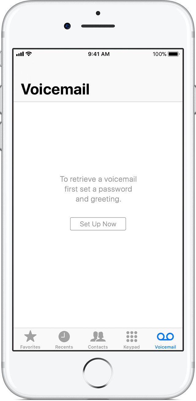 Set up visual voicemail on your iphone apple support tap set up now m4hsunfo Image collections