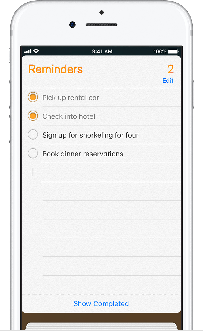 add reminder iphone use reminders on your iphone or ipod touch apple 10041