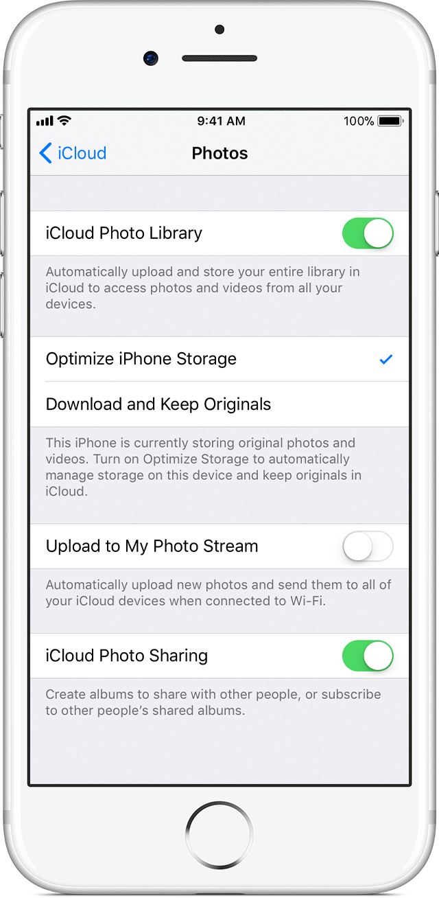 how long do i leave my iphone in rice icloud photo library apple support 6163